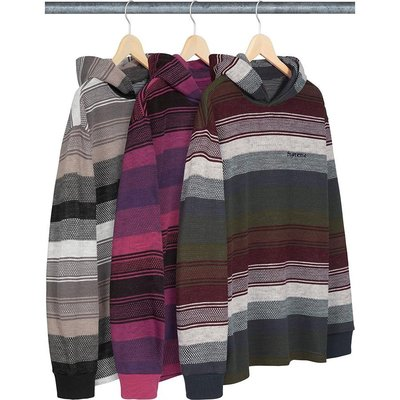 【紐約范特西】預購 Supreme FW18 Knit Stripe Hooded L/S Top 連帽 毛衣