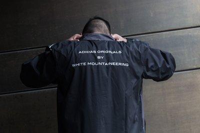 ADIDAS X WHITE MOUNTAINEERING Long Bench Jacket 長版 教練外套 防潑水