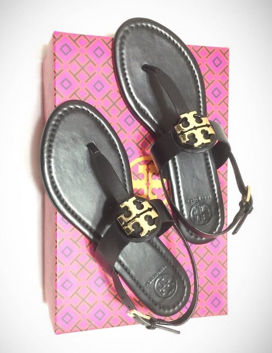 Tory Burch TB 鞋 現貨 黑色真皮 人字夾腳 涼鞋 現貨在台 全新真品 7號