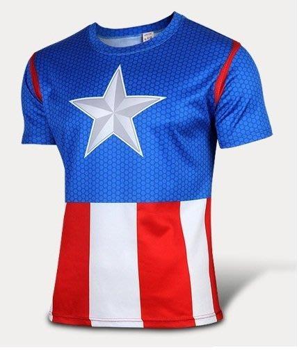 任二件免運 美國隊長3代 短袖T桖 排汗衫 寬鬆 S~4XL 大尺寸 11