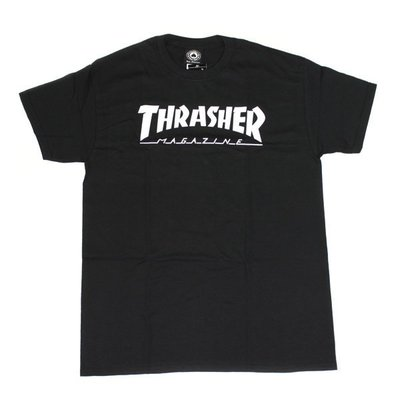 【THRASHER】Hometown純棉圓筒Tee (黑色)日本線