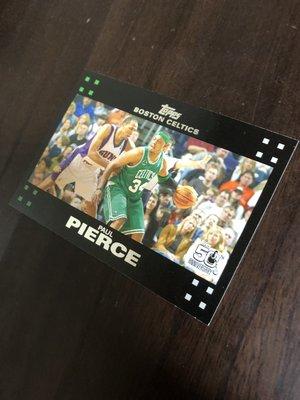 PAUL PIERCE   2007 TOPPS 50紀念卡 34 卡片如圖