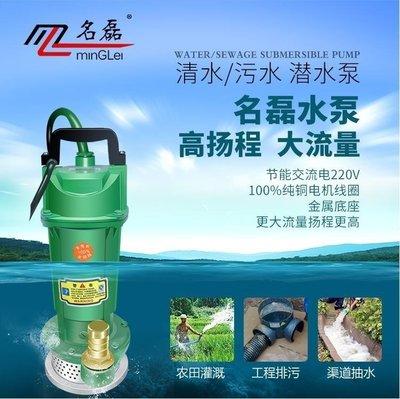 抽水機 家用單相電潛水泵1寸220V抽水機井用農用370W750W澆灌抽水泵
