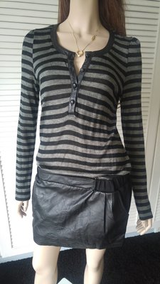 Fendi 羊毛拼接黑色真皮裙洋裝