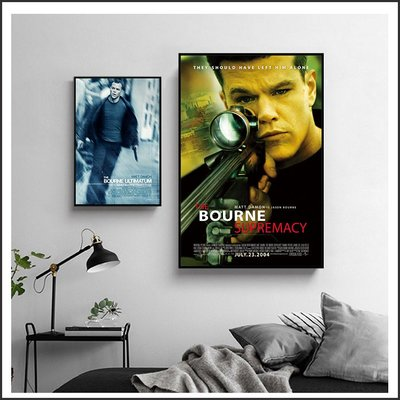 日本製畫布 電影海報 神鬼認證 The Bourne Identity 掛畫 嵌框畫 @Movie PoP ~