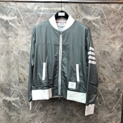 Thom Browne 灰綠色夾克拉鍊外套 男女同款