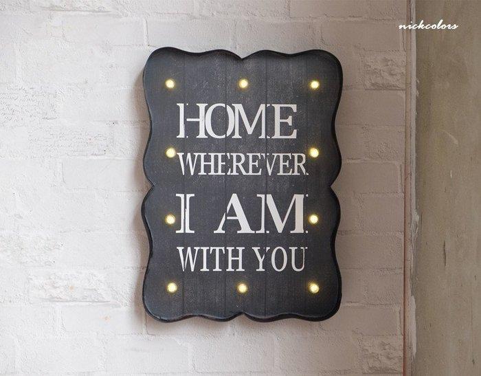 尼克卡樂斯 ~美式復古LED燈壁掛裝飾 餐廳咖啡廳牆面掛牌 工業風led擺飾 牆飾