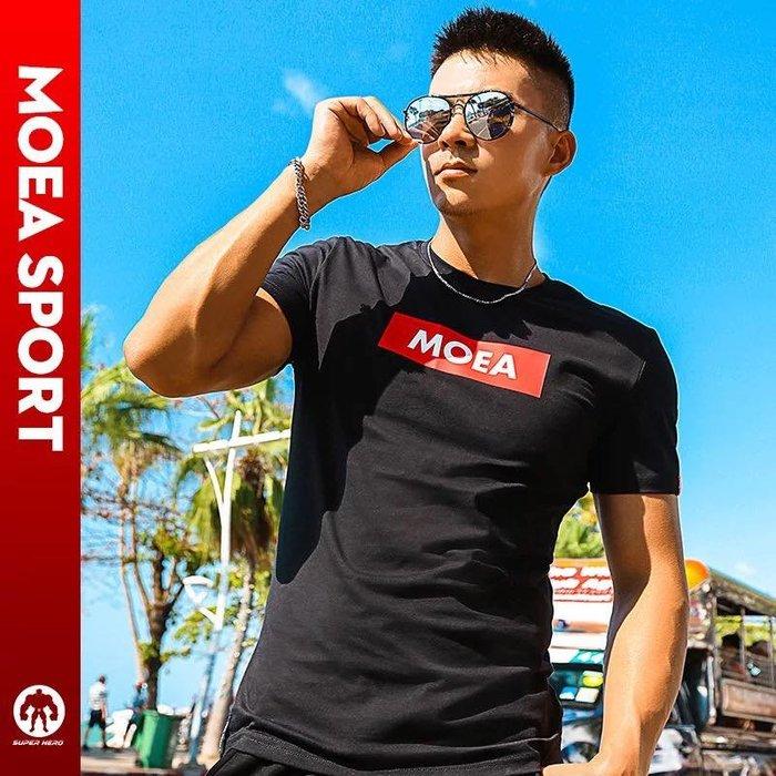 【OTOKO Men's Boutique】MOEA墨立方:品牌TEE/運動TEE/黑色(台灣獨家代理)