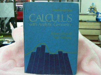 【四五六工場-二手書】教育/考試-Calculus with Analytic Geometry-Varberg......四成新