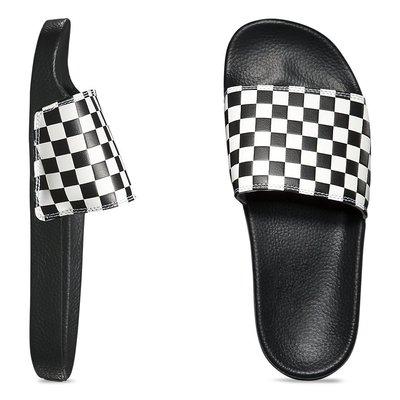 CHIEF' VANS 美版 SLIDE-ON 黑色 拖鞋 黑白格 格子 棋盤格 方格 26 27cm