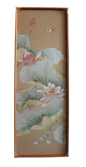 【芮洛蔓 La Romance】東情西韻系列手繪絹絲畫飾 荷花圖 CHF-008