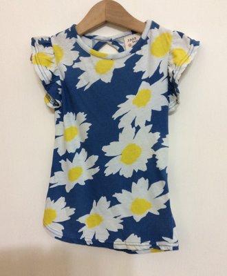 媽媽咪呀~Mamma Mia 韓國童裝 過季零碼出清!藍底花朵花袖上衣