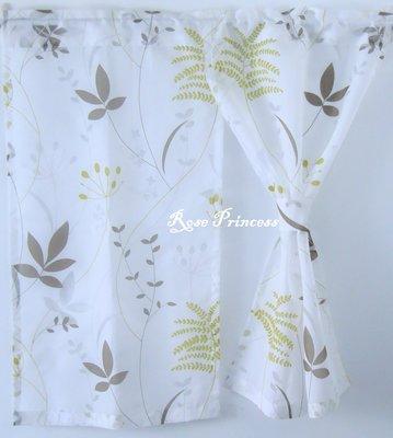 ~玫瑰小公主家飾館~森林清新綠葉風格紗門簾-寬90*長90公分 可訂製