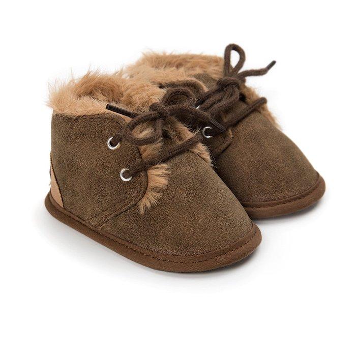 森林寶貝屋~咖啡休閒保暖鞋~學步鞋~幼兒鞋~寶寶鞋~嬰兒鞋~學走鞋~童鞋~綁帶設計~保暖舒適~彌月贈禮~特價135元