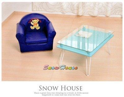 ╭☆雪之屋居家生活館☆╯R572-12 尼采咖啡桌(5T強化清玻)(優格藍)/ 電腦桌 /工作桌/ 書桌/補習班桌