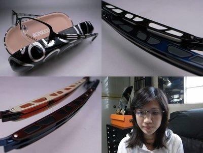 信義計劃眼鏡 Bonkers 眼鏡 日本 夾層結構造型半框下無框 超越 BO JF La face超越 font Rey