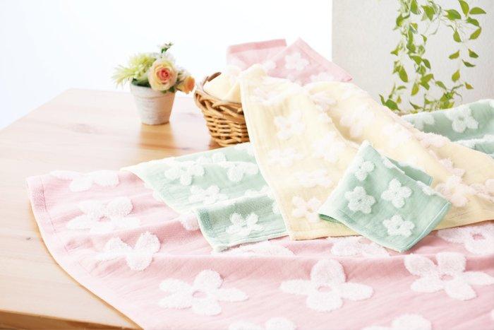 日本製 今治產 花朵長毛巾