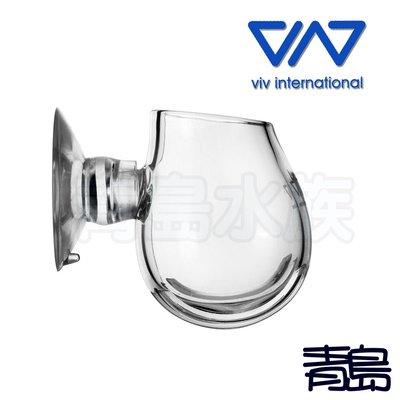 Y。。。青島水族。。。400-03香港VIV----紅蟲餵食杯/迷你波卡 紅蟲杯 紅蟲玻/璃餵食器(超白玻璃)