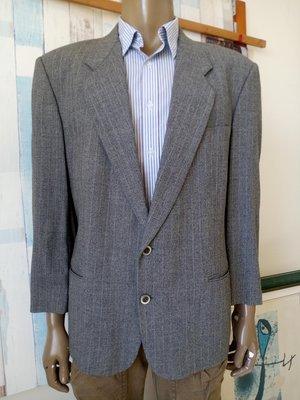 PIERRE BALMAIN淺灰色毛料西裝外套 (100%羊毛、男、SIZE:52號)