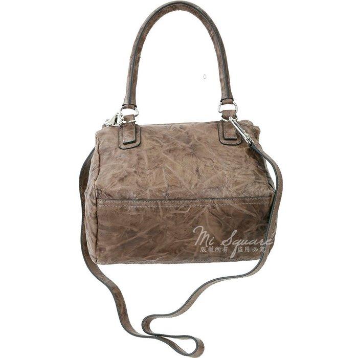 米蘭廣場 GIVENCHY Pandora 綿羊皮鞣製兩用提包(小/咖啡灰) 1620048-06