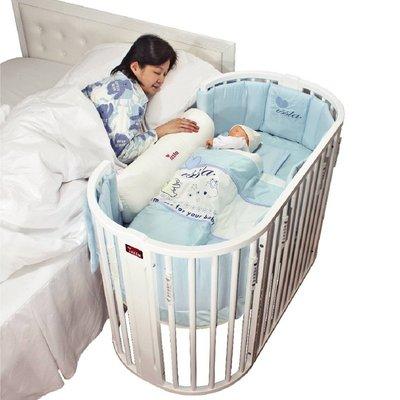 【晴晴百寶盒】ISSLA 珍寶多功能粉彩圓形中床 台灣母嬰用品 嬰兒床 遊戲床 高品質 安全寶寶小孩CP值高 K200