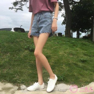 牛仔短褲女夏2019新款韓版高腰A字闊...