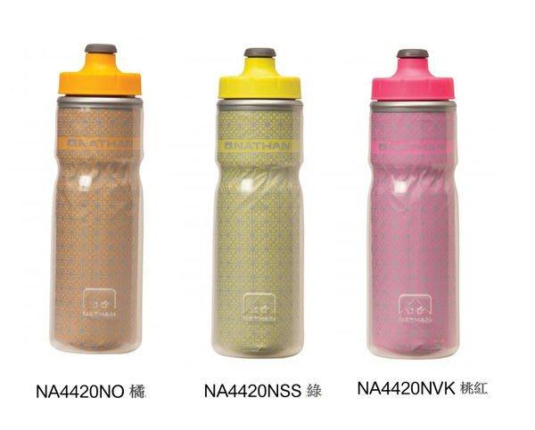 【大山】 美國 NATHAN Fire & Ice Bottle 冰火保冷反光水壺 600ml 自行車水壺 保冰水保冷 NA4420