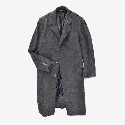 TAILORED BY B.W. HARRIS Long Trench Coat 美國製 深灰 長版 大衣 口袋 3M