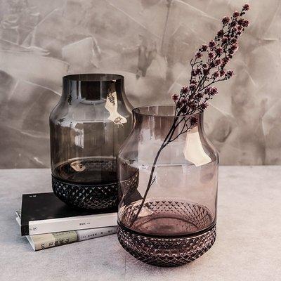 C - R - A - Z - Y - T - O - W - N 玻璃花瓶擺件透明裝飾玻璃瓶插花客廳兩用菸灰缸創意擺件