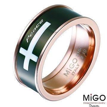 (Hueibe Shop)高質感米格Migo鋼飾和平女戒SR388-11