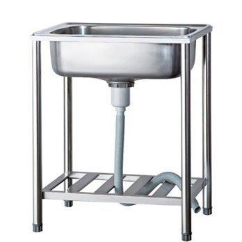 一鑫餐具【57×46×80公分 不鏽鋼水槽】流理台不銹鋼洗手槽白鐵水槽洗手台陽台水槽洗衣槽