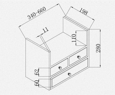 哆啦本鋪 書架簡易桌面置物架簡約現代小書架創意辦公桌收納展示架子 D655