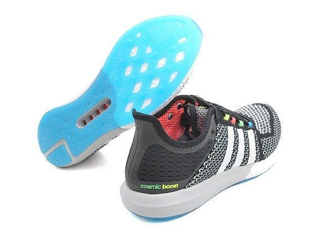 (阿信)ADIDAS CC COSMIC BOOST M 黑 彩色 編織 輕量 慢跑潮鞋 B34373 男