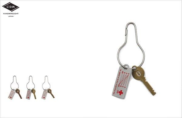 WaShiDa【CK6】CDW - BLOOD TYPE Key Ring 血型 銅片設計 鑰匙圈 聖誕 小物