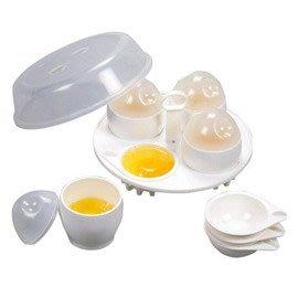 OKAY 微波餐具家庭號4入兩用煮蛋器