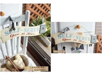 洗衣機/燙衣間作舊英文厚實木製掛牌(兩款可選)民宿裝飾~兔果兒鄉村雜貨Zakka