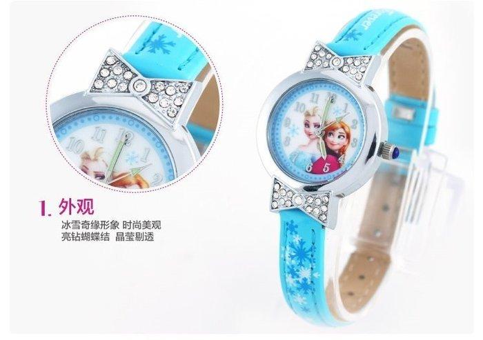 mandyshop【M2999】㊣ Disney 迪士尼FROZEN冰雪奇緣鑲鑽指針表/手錶