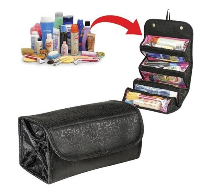 折疊化妝包 旅行 收納包,透明分層、好拿取【HC002】媽媽咪の百寶箱