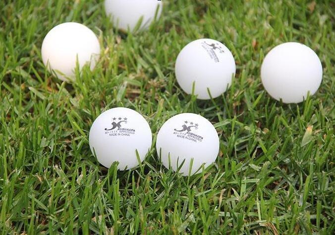 三星球無縫球乒乓球40 三星新材料塑料球比賽用球