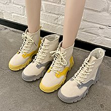 冬季保暖女靴 馬丁鞋 長靴機車靴 韓版百搭馬丁靴女百搭春秋單靴女英倫風系帶短靴女瘦瘦靴女靴