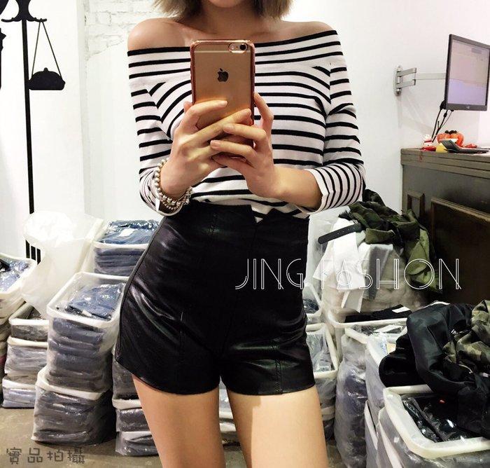 現貨/實拍【JinG】SML 超瘦高腰皮褲 皮高腰褲 皮短褲 內搭褲 安全褲