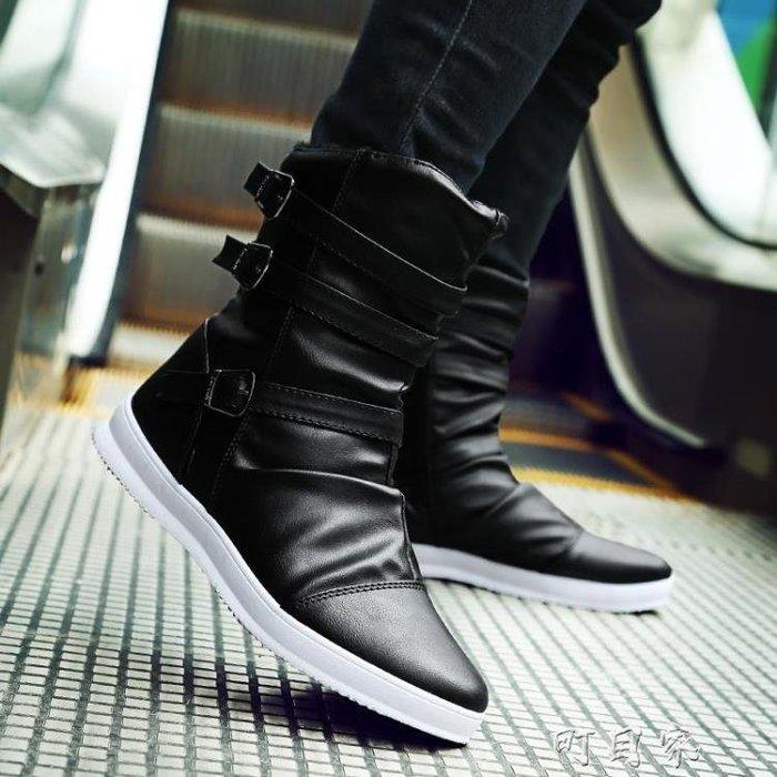 雅?馬丁靴男英倫風高筒休閒百搭皮靴厚底百搭短靴男靴子