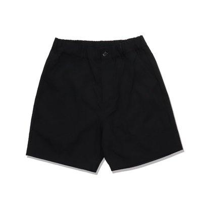 Freaky House-日本Audience 高密度尼龍重染色水洗鬆緊抽繩寬鬆短版工裝短褲黑色