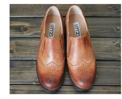 =WHITY=韓國GRAMMI品牌 韓國製  全真皮文藝復古質感小厚底牛皮牛津鞋擦色 質感女孩   S4BV671