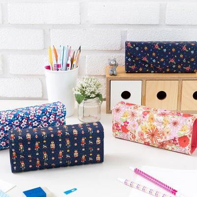 韓國文具【Cube生活雜貨】(預+現)SQUARE PENCIL CASE筆袋/鉛筆盒(文具收納.化妝包.書包)