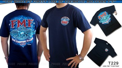 【ARMYGO】美國 7.62 軍事T恤 - 海軍系列 -USN FMF 'FIGHTING'