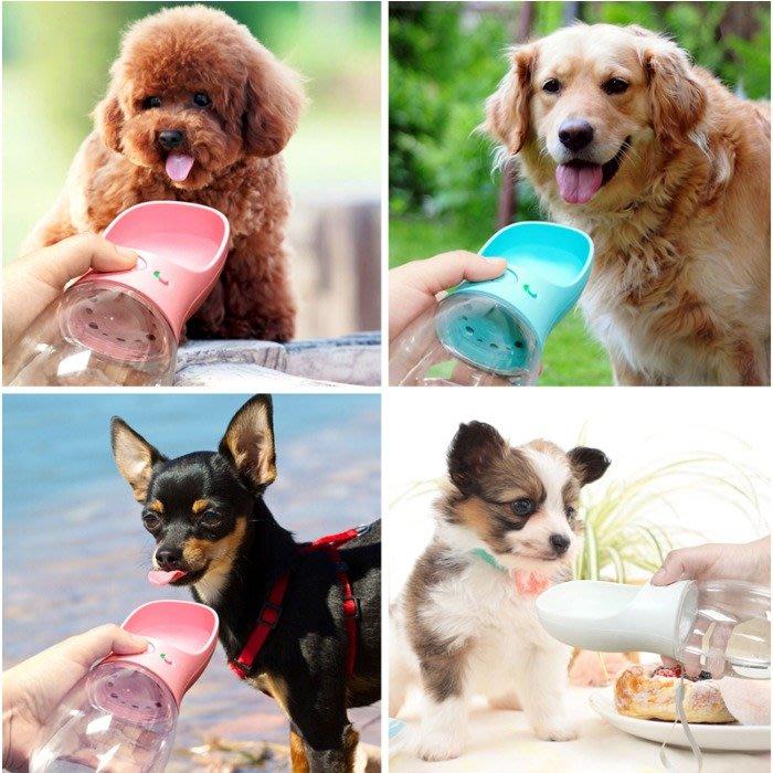 5Cgo【樂趣購】570330358922狗狗外出水壺寵物隨行水杯便攜喝水器飲水器寵物貓貓水瓶戶外散布動物輕巧550ML