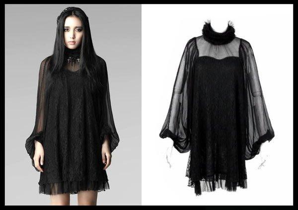 *mini & PUNK LOLO*黑暗哥德系-納尼亞傳奇光之女神雪紡蕾絲洋裝(PY-017)LOLITA.PUNK