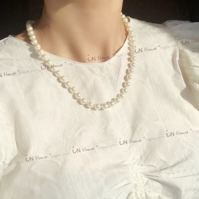 IN House*🇹🇼現貨 出口歐美 高雅簡約 珍珠 項鍊 耳釘 耳飾 百搭 珍珠 耳環 套組