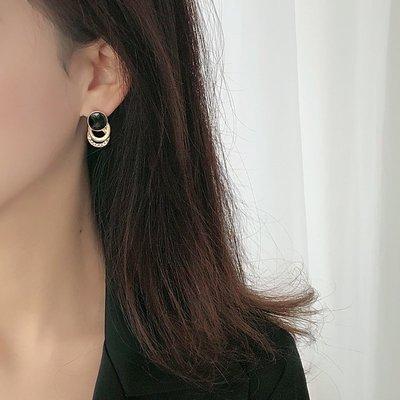 s925銀耳釘女2020新款潮簡約氣質耳環韓國個性耳墜網紅爆款耳飾品